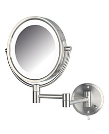"The HL88NL 8.5"" LED Lighted Wall Mount Makeup Mirror"