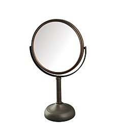 "The Jerdon JP918BZB 8"" Tabletop Two-Sided Swivel Vanity Mirror"