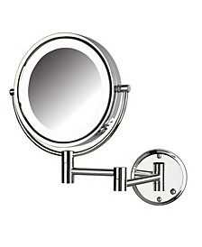 "The HL88CLD 8.5"" LED Lighted Wall Mount Direct Wire Makeup Mirror"
