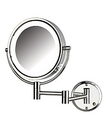 "The Jerdon HL88CLD 8.5"" LED Lighted Wall Mount Direct Wire Makeup Mirror"