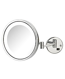 "The HL1016CLD 9.5"" 5X Magnified LED Wall Mount Direct Wire Mirror"