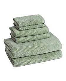 6 Piece Bath Towel Set Collection