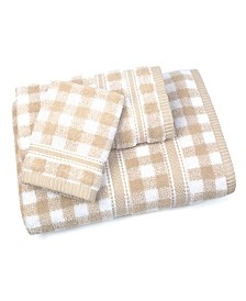 Gingham 3 Piece Towel Set