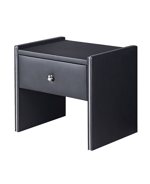 Fabulous Davis Modern Upholstered 1 Drawer Bedroom Nightstand Gmtry Best Dining Table And Chair Ideas Images Gmtryco