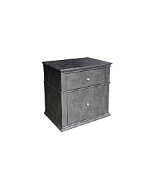 American Eagle Furniture Jackson Modern Upholstered 2-Drawer Bedroom Nightstand