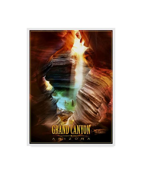 """Trademark Innovations Old Red Truck 'Grand Canyon' Canvas Art - 32"""" x 24"""" x 2"""""""