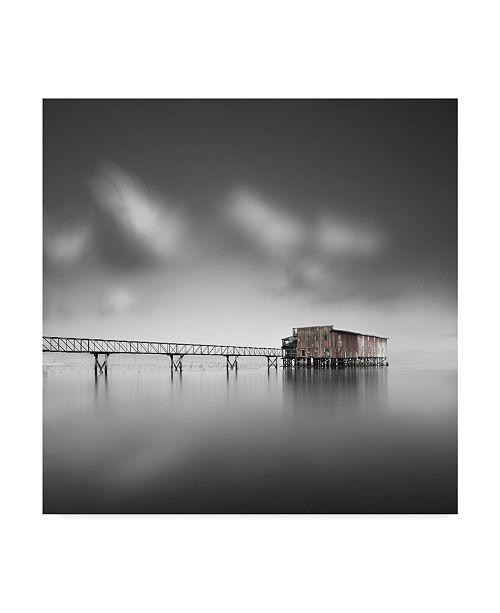 """Trademark Global Moises Levy 'Red Shack' Canvas Art - 18"""" x 18"""" x 2"""""""