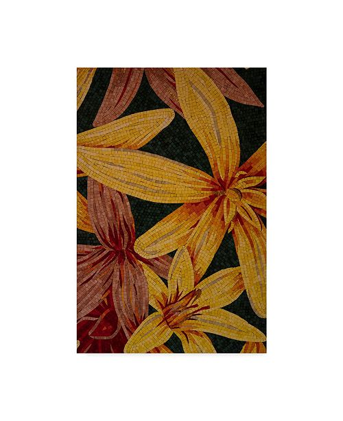 "Trademark Global Moises Levy 'Art Flower Distress' Canvas Art - 47"" x 30"" x 2"""