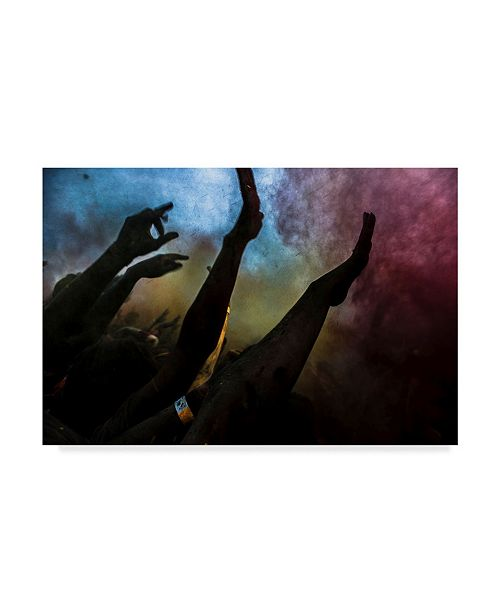 "Trademark Global Vyacheslav Klimentyev 'Holi Festival Of Colours' Canvas Art - 47"" x 2"" x 30"""