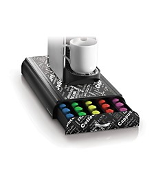 Mind Reader 50 Capacity 'Anchor' Coffee Pod Storage Drawer Organizer for Nespresso Capsules Print