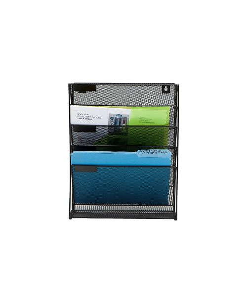 Mind Reader Newspaper and Magazine Rack for Bathroom, Office, Entryway Metal Mesh