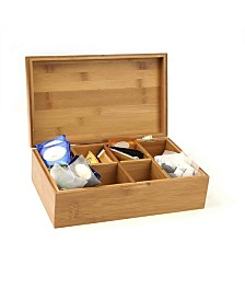 Mind Reader Tea Storage Chest Box with 8 Compartments