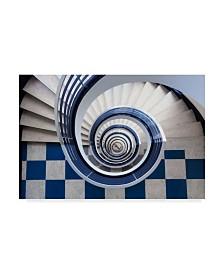 """Max Zimmermann 'Anchor Spirals' Canvas Art - 32"""" x 2"""" x 22"""""""