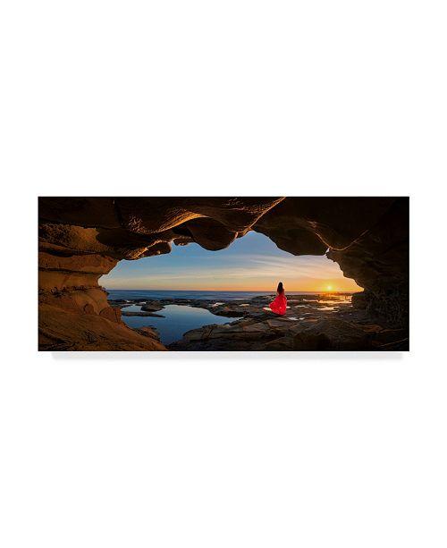 """Trademark Global Jingshu Zhu 'Cave Woman In Red' Canvas Art - 47"""" x 2"""" x 20"""""""