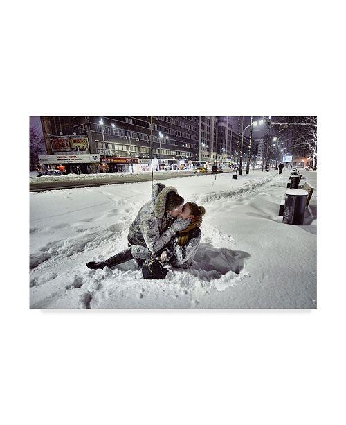"Trademark Global Vlad Eftenie 'Winter Kiss' Canvas Art - 24"" x 2"" x 16"""