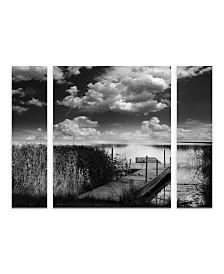 "Philippe Sainte-Laudy 'Double World' Multi Panel Art Set Large 3 Piece - 44"" x 44"" x 2"""