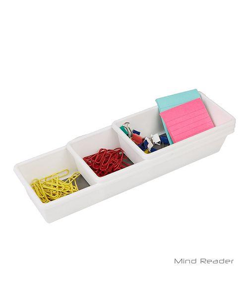 Mind Reader Thin 3 Piece Metal Mesh Storage Organizer,Kitchen,Home,Office, Bathroom
