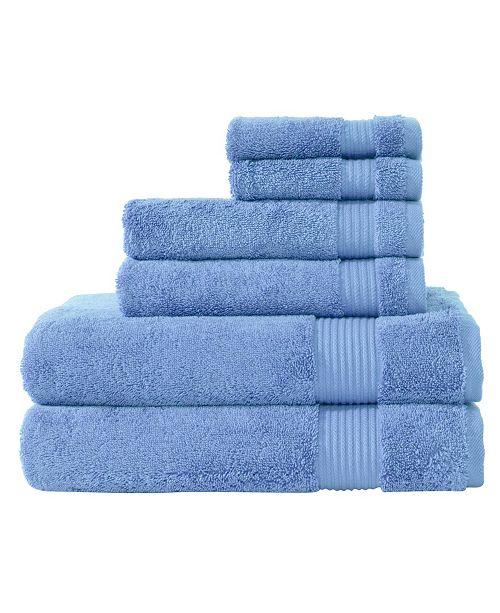 Makroteks Classic Turkish Towels Amadeus 6 Piece Luxury Turkish Cotton Towel Set