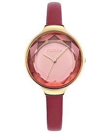 RumbaTime Orchard Gem Genuine Leather Strap Watch
