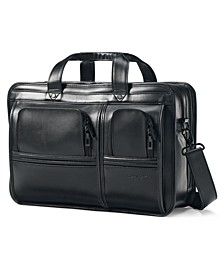 Professional Leather 2 Pocket Laptop Briefcase