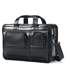 Samsonite Professional Leather 2 Pocket Laptop Briefcase