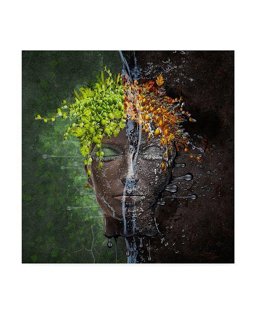 """Trademark Global Natalia Simongulashvili 'Metamorphosis Leaves' Canvas Art - 24"""" x 2"""" x 24"""""""