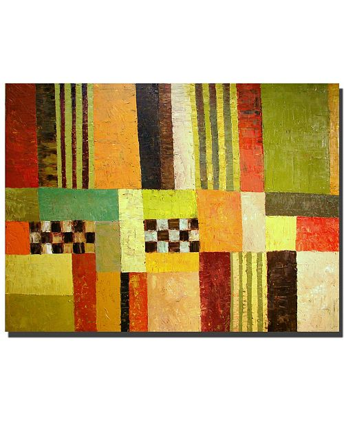 "Trademark Global Color and Pattern Abstract by Michelle Calkins- Canvas Art - 24"" x 32"" x 2"""