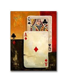 "Ms. Big Slick Poker Queen on Canvas - 47"" x 35"" x 2"""
