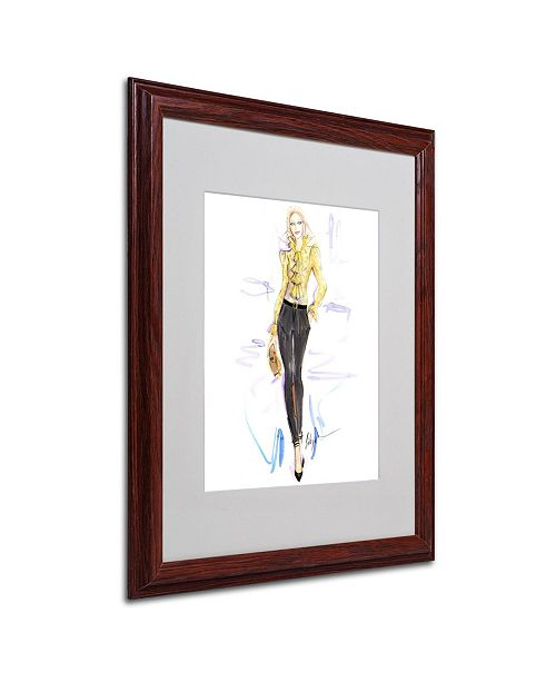 "Trademark Global Jennifer Lilya 'Honey Mustard' Matted Framed Art - 16"" x 20"" x 0.5"""