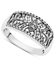 Diamond Ring in Sterling Silver (1/5 ct. t.w.)