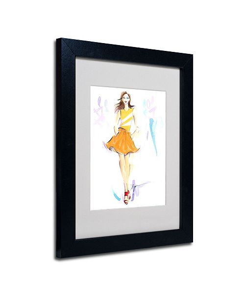 "Trademark Global Jennifer Lilya 'Starburst' Matted Framed Art - 14"" x 11"" x 0.5"""