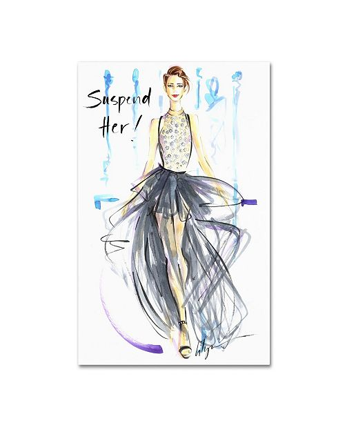 "Trademark Global Jennifer Lilya 'Suspend Her' Canvas Art - 19"" x 14"" x 2"""