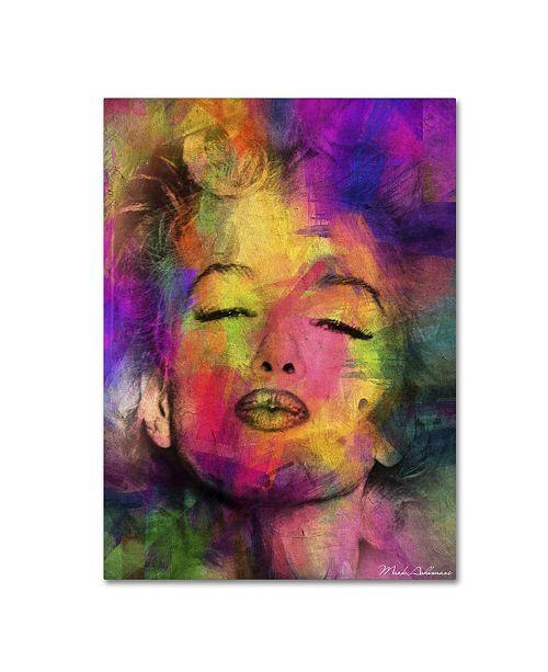 "Trademark Global Mark Ashkenazi 'Marilyn Monroe VI' Canvas Art - 47"" x 35"" x 2"""