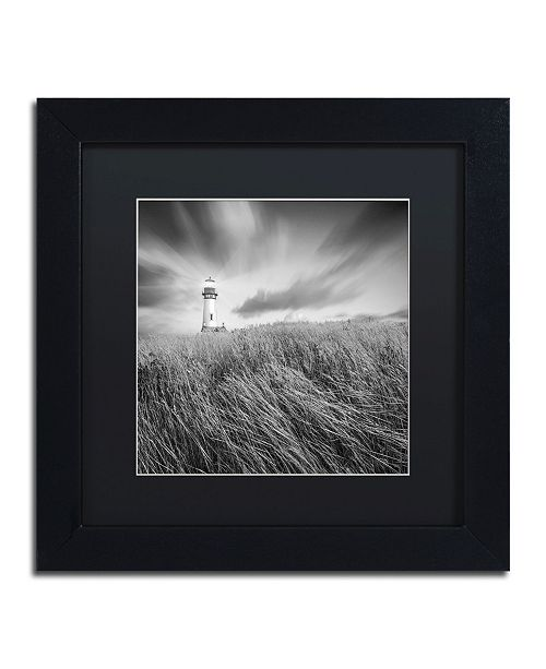 "Trademark Global Moises Levy 'Yaquina Lighthouse III' Matted Framed Art - 11"" x 11"" x 0.5"""