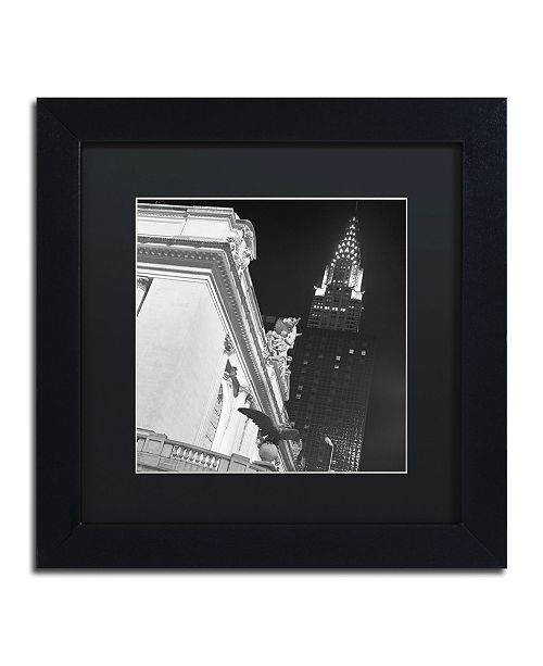 "Trademark Global Moises Levy 'New York 003' Matted Framed Art - 11"" x 11"" x 0.5"""