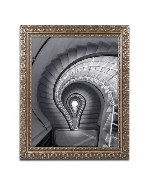 "Trademark Global Moises Levy 'I Have An Idea' Ornate Framed Art - 20"" x 16"" x 0.5"""