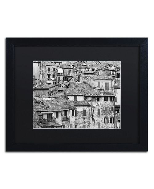 "Trademark Global Moises Levy 'San Gimignano Texture' Matted Framed Art - 16"" x 20"" x 0.5"""