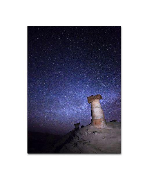 "Trademark Global Moises Levy 'Starry Night in Arizona I' Canvas Art - 19"" x 14"" x 2"""