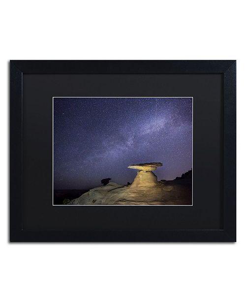 "Trademark Global Moises Levy 'Starry Night in Arizona III' Matted Framed Art - 16"" x 20"" x 0.5"""
