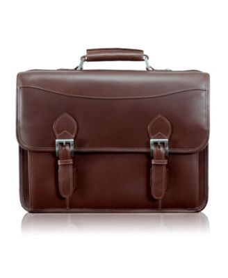 "McKlein Harrison Brown Leather Briefcase fits up to 15.6/"" Laptop"