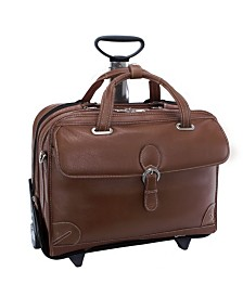 McKlein Siamod Carugetto Patented Detachable -Wheeled Laptop Briefcase