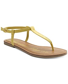 Krista T-Strap Flat Sandals, Created For Macy's