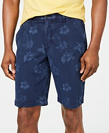 "Men's Maraggio 10"" Stretch Floral-Print Ripstop Shorts"