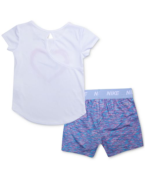 213cdc980 Nike Baby Girls 2-Pc. Dri-FIT T-Shirt & Shorts Set & Reviews - Sets ...