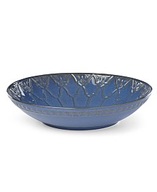 Lenox Global Tapestry Low Bowl Blue