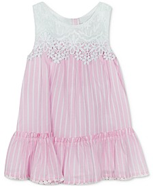 Baby Girls Lace Striped Dress