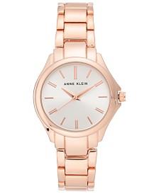 Anne Klein Women's Rose Gold-Tone Bracelet Watch 32mm