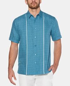 Cubavera Men's Space-Dye Stripe Linen Shirt