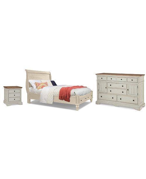 Cottage Bedroom Furniture, 3-Pc. Set (Queen, Nightstand & Dresser)