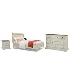 Cottage Solid Wood Bedroom Furniture, 3-Pc. Set (California King, Nightstand & Dresser)